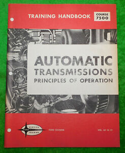 1964-1973 Ford Mercury Lincoln NOS AUTOMATIC TRANSMISSION TRAINING HAND BOOK