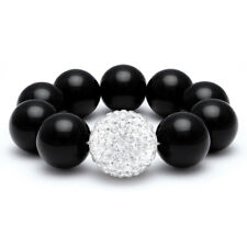 Elegant Crystal Pave Ball Stretch Bracelet FAST SHIP FROM USA