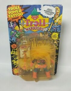 Troll Warriors Fanta the Rascal 1992 Applause Toys with weapon & tattoo on card