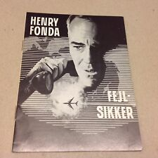"""Fail-Safe"" Henry Fonda Walter Matthau Weaver 1964 Danish Original Movie Program"