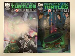IDW TMNT/GHOSTBUSTERS #1 : 2 COVERS BUNDLE : REG + SUB : NM CONDITION