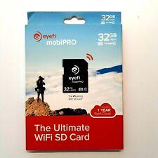 Eye-Fi Mobi PRO 32GB WiFi SDHC  EyeFi SD Card Wi-Fi CLASS 10  W/ Reader Tested