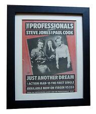 PROFESSIONALS+SEX PISTOLS+Dream+POSTER+AD+RARE ORIG 1980+FRAMED+FAST GLOBAL SHIP