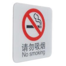 No Smoking Sign, Sticker for Bar, Restaurant, Cafe, School etc. 10×10cm