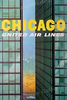 1961 Chicago Lake Michigan Shoreline Vintage Style Travel Poster - 16x24