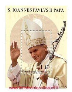 Liechtenstein 2014   Canonizzazione  Papa Giovanni Paolo II