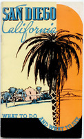 Vintage Booklet San Diego, California, 1930's? Tourist, Chamber of Commerce
