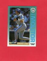 1992 Fleer baseball #182  PAUL MOLITOR  Milwaukee Brewers Hall of Fame