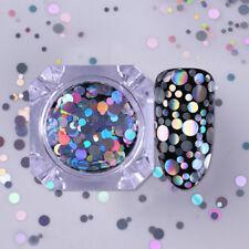 Holo Nail Glitter Sequins Flakes Laser Pretty Nail Art Mixed Size Tips Born TR