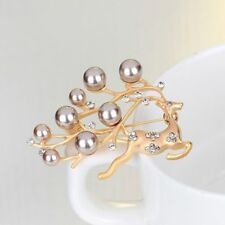 Brooches Sweater Simulated Jewelry Christmas Cute Brooch Rhinestone Pearl Deer
