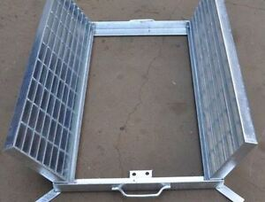 Heavy Duty Galvanized Steel Drainage Grate & Frame - Center Open - 990X1000X50mm