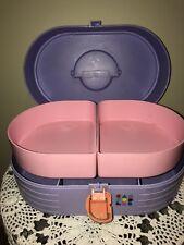 VTG Lavender CABOODLE Barbie Accessories Organizer Train Case Storage