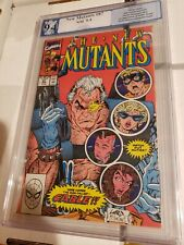New Mutants #87 PGX 9.4 1st Cable Red Cover Not CGC Cooper Age Comic White page