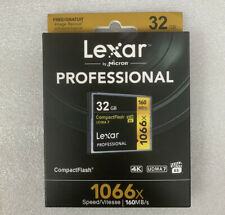 For Lexar Professional 32GB Compact Flash 160MB/s Memory Card 1066x UDMA7 VPG-65