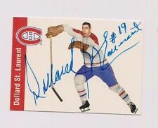 1994 Parkhurst Dollard St. Laurent Montreal Canadiens Autographed Card