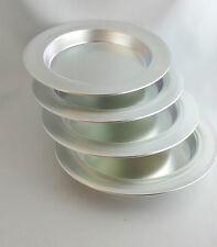 4 X Künefe Tabakgi Alu Backform Rund Teller Dessertteller hitzebeständig Ø 18cm