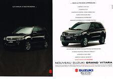 PUBLICITE ADVERTISING 114  2005  SUZUKI  le GRAND VITARA  1.6 VVT  ( 2p)