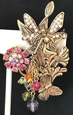 KIRKS FOLLY Pin Brooch Nude Fairy Butterfly Flowers Boxed RARE KFB