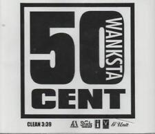 50 Cent: Wanksta PROMO MUSIC AUDIO CD White Label Shady Aftermath Clean 1 track