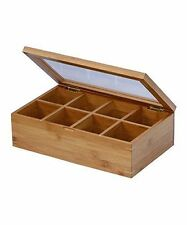 Saganizer Tea Box Tea Storage Bamboo Natural, Nice Tea Chest Tea Packaging Good