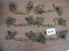 SET OF 6  ANTIQUE BRASS HANDLES (K70)