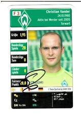 Christian Vander Quartettkarte 2006 Werder Bremen mit original Unterschrift
