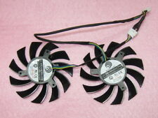 75mm MSI GTX 570 580 R6870 R6970 TwinFrozr II Video Card Dual Fan 12V 0.35A R83a
