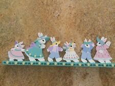 "Easter decor - Hand-painted wood mantel display 21""w x 7""h"
