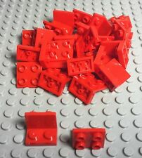 LEGO X25 New Bulk Red Bracket 1 x 2 - 2 x 2 Inverted Up (part #99207)