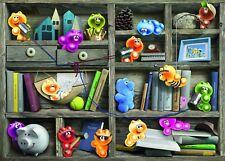 Puzzle Ravensburger 1000 piezas-Gelini en el estante libros (51861)