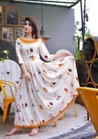 Indian Bollywood Designer indo western gown Kurta Kurti women ethnic dress-wb36