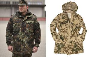 Original Bundeswehr Parka BW Feldjacke Jacke Flecktarn Wüstentarn Tropentarn