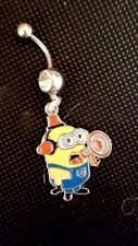 Minion Spokes Person speaker  Belly Ring Navel Ring 14G Surgical Steel Dangle