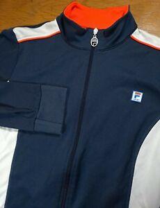 Womens Fila Sport Track Suit Jacket Blaze Orange Collar Full Zip XL Extra Large