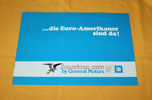 Chevrolet Pontiac Buick X GM 1980 Prospekt Brochure Prospetto Catalog Folder