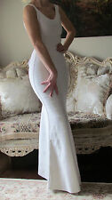 New HERVE LEGER White Bandage Stretchy Long Gown dress US 0-4/XS