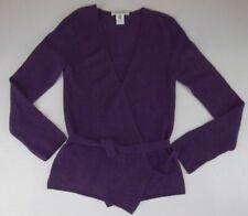 Maria Di Ripabianca Wrap Sweater Size 10 Purple Wool Blend