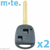 2 x Toyota Prado RAV4 Echo Corolla Remote Car Key Blank Shell/Case/Enclosure