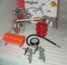 5Pc Air Compressor Tool Kit H.P.Spray Gun Engine Gun Blow Gun Tyre Inflator Hose