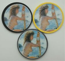 3 Different Brothel Original Paul-son Ladies Poker Clay Chips