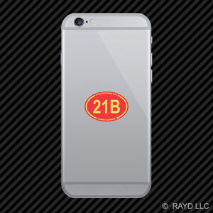 United States Marine Corps MOS 21B Combat Engineer Red Oval Cell Phone Sticker