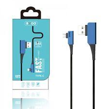 Cable Carga Rapida y Sincronizacion Datos 2.4A USB a USB C Trenzado Nylon codo