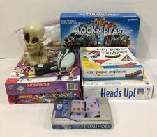8 Board Games Heads Up Monopoly Dominoes Skylanders Jenga Johnny Skull SpiderMan