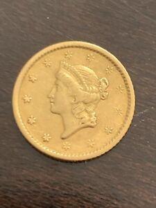 $1 1851 Liberty Head Gold Dollar One Type 1 - Early Dollar!