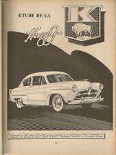 REVUE TECHNIQUE AUTOMOBILE 86 RTA 1953 KAISER FRAZER HENRY J BOITE OPEL SYNCHROM