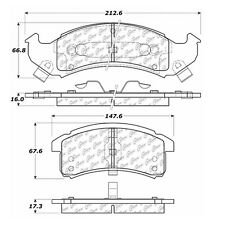 Centric Parts 104.06230 Front Super Premium Semi Metallic Brake Pads