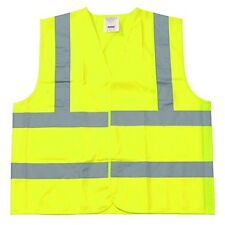 25 Pieces Class II Fluorescent Yellow Polyester Fabric Safety Vest Size: 6XL