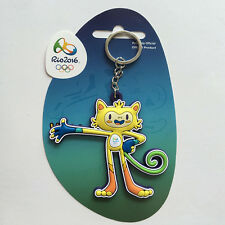 Chic Brazil Rio 2016 Olympic Mascot Vinicius PVC Keychain Pin Jewelry Gift New