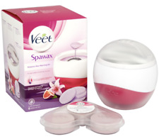 Veet SpaWax Warming Kit with 6 wax disc + Bonus 18 Wax Disc - New-