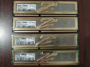 Lot of 4 OCZ DDR3 2GB PC3-12800U 1600 Non-ECC desktop Memory Tested